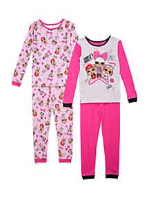 LOL Surprise Girls 4-10 4 Piece Pajama Set