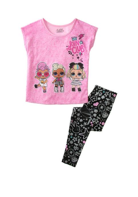 Girls 4-10 Join The Club Pajama Set
