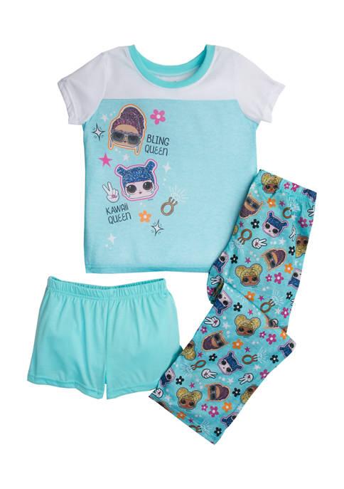 Girls 6-12 3 Piece Boss Baby Pajama Set