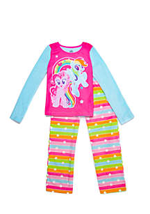 Girls 4-16 My Little Pony Fleece Pajama Set
