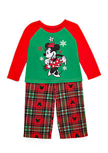 Girls 4-16 Minnie Mouse 2-Piece Pajama Set