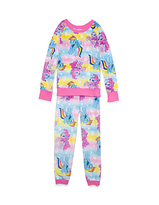 Character Wear My Little Pony 2 Piece Pyjama Set Baby Girls Pink Pajamas