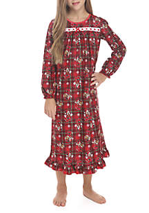 Girls 4-16 Minnie Holiday Gown