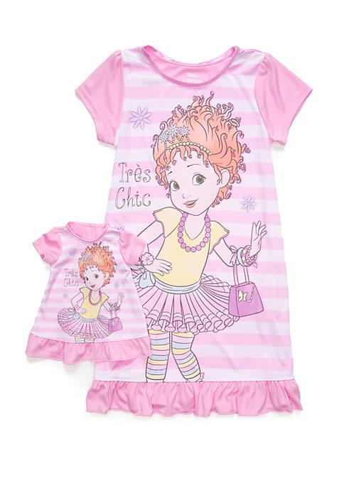 Disney® Junior™ Girls 4-10 Fancy Nancy Doll Pajama
