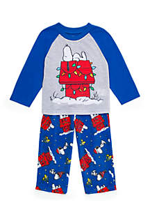 Kids 4-20 Snoopy 2-Piece Pajama Set