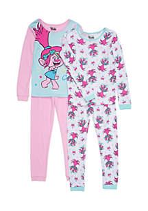 Girls 7-16 4-Piece Trolls Pajama Set
