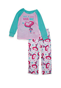 Girls 4-16 Trolls 2-Piece Thermal Pajama Set