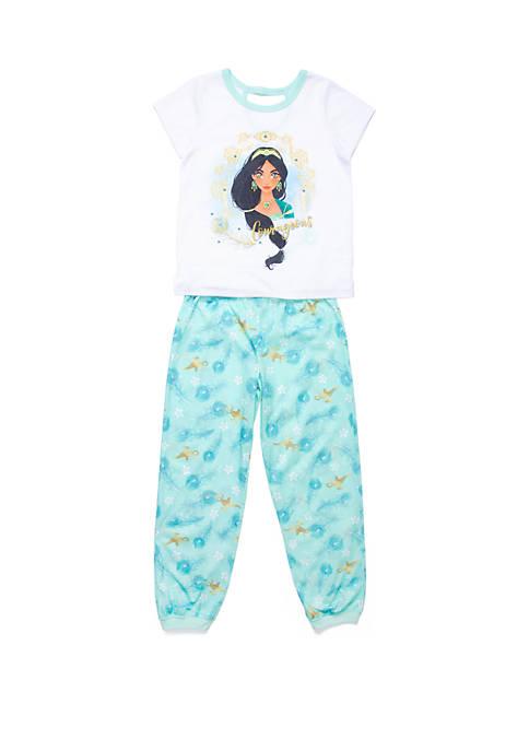 Girls 4-10 Jasmine 2 Piece Pajama Set