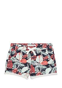 Palm Leaf Sweatshort Girls 7-16