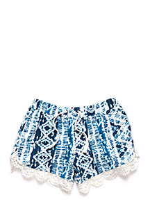 Knit Tie Dye Shorts Girls 7-16
