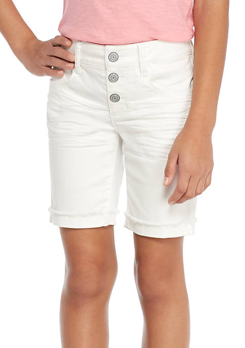 Imperial Star Three Snap Exposed Bermuda Shorts Girls