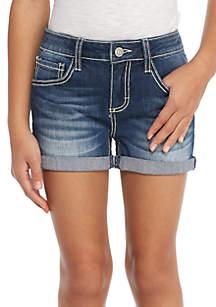Americana Back Pocket Shortie Girls 7-16