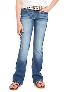 Girls 7-16 Adam Crochet Belt Bootcut Jeans