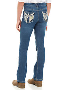 Girls 7-16 Block Party Angel Flap Bootcut Jeans