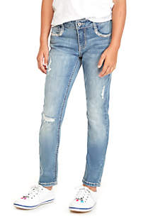 Girls 7-16 Gabriel Sequin Flap Skinny Jean