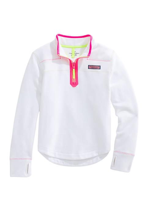 Vineyard Vines Girls 7-16 Neon Pop Shep Shirt