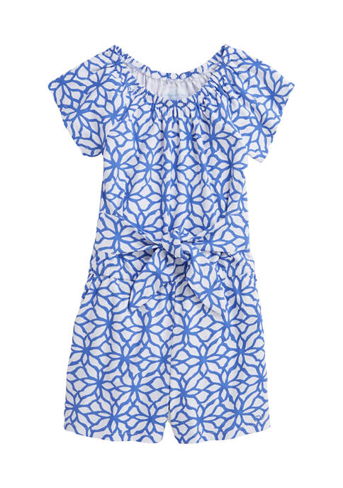 Girls 7-16 Day Lily Tie Front Romper