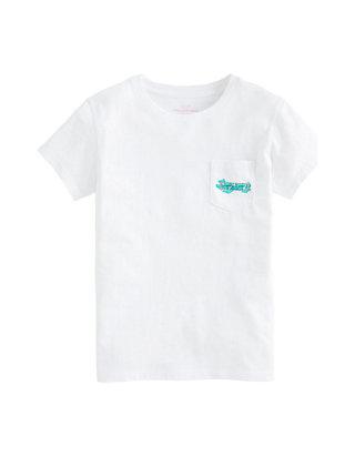 Lucky Brand Girls Short Sleeve Classic Script Logo Tee Shirt