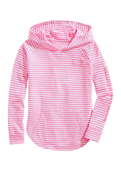 Girls 7-16 Beachcomber Stripe Vintage Whale Graphic Hoodie T-Shirt