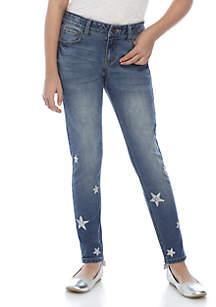 Girls 7-16 Glitter Stars Jeans