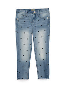 TRUE CRAFT Girls 4-6x Polka Dot Denim Jeans