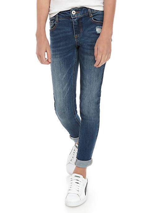 Girls 7-16 Air Harper Rolled Cuff Skinny Jeans