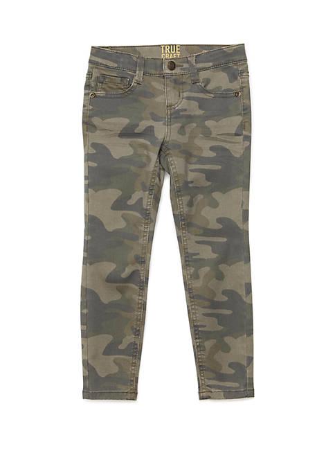 Girls 4-6x Camo Denim Pants