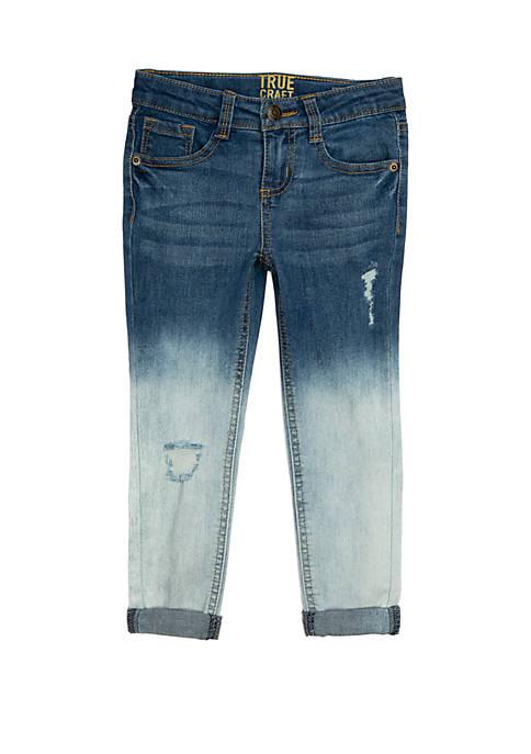 TRUE CRAFT Girls 4-6x Girlfriend Roll Cuff Jeans