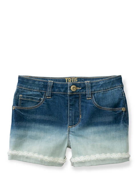 Girls 7-16 Ombre Denim Shorts