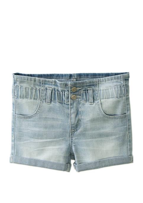 Girls 4-6x Paper Bag Waist Shorts