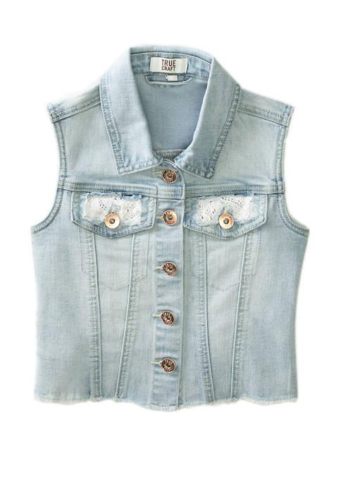 TRUE CRAFT Girls 4-6x Denim Vest