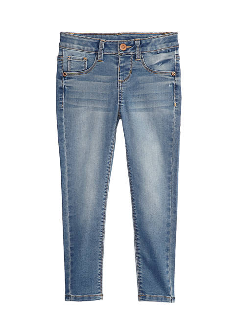 TRUE CRAFT Girls 4-6x Mid-Rise Pull On Jeggings