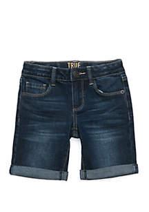 Girls 4-8 Basic Denim Bermuda Shorts