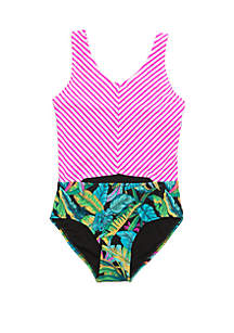 45916f701312f ... Crown & Ivy™ Girls 7-16 Electric Jungle One Piece Swimsuit