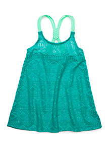 Crown & Ivy™ Girls 7-16 Crochet Swim Cover Up