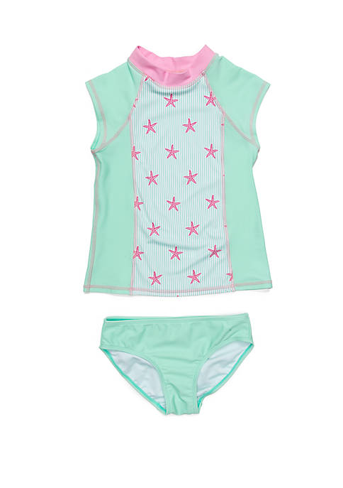 Crown & Ivy™ Girls 7-16 2-Piece Mint Starfish