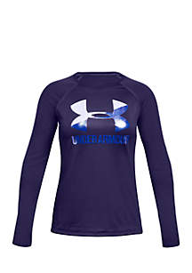 Girls 7-16 Long Sleeve Big Logo Tee