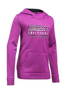 Armour Fleece Wordmark Hoodie Girls 7-16