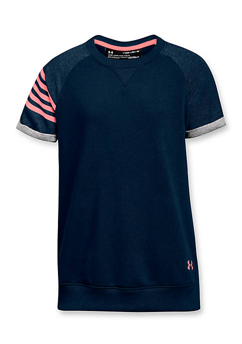 Under Armour® French Terry Baseball Tee Girls 7-16