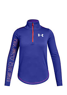 Girls 7-16 Long Sleeve Tech Quarter Zip Pullover