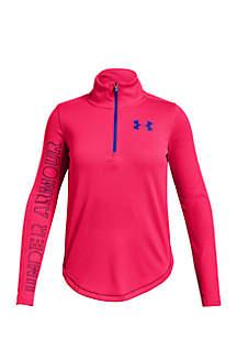 Girls 7-16 Long Sleeve Tech Quarter Zip Pullover