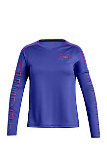 Girls 7-16 UA Tech™ V-Neck Long Sleeve