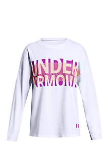 Girls 7-16 UA Overlay Branded Long Sleeve T-Shirt
