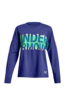 Girls 7-16 UA Overlay Branded Long Sleeve T-Shirt