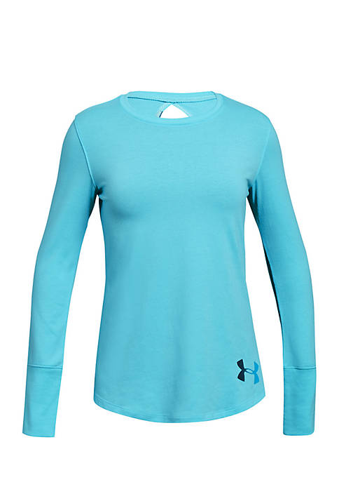Under Armour® Girls 7-16 Long Sleeve Solid Finale