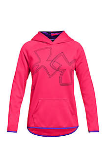 Girls 7-16 Armour Fleece® Dual Logo Hoodie
