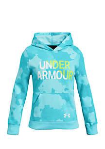 Girls 7-16 UA Rival Fleece Wordmark Hoodie