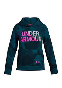 Girls 7-16 UA Rival Fleece Wordmark Hoodie