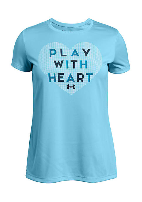 Under Armour® Girls 7-16 Play With Heart T-Shirt