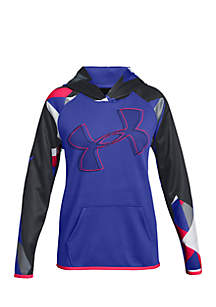 Under Armour® Girls 7-16 Printed Logo Hoodie